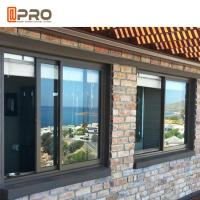 Quality Commerical House and Office Tempered Double Glass Aluminium Sliding Window for sale