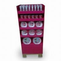 Buy cheap POP/POS/FSDU Floor Display Stand for Kitchen Ware, OEM and ODM Orders Welcome product