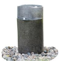 Buy cheap Cylinder Shaped Cast Stone Garden Fountains / Large Outdoor Fountains product