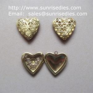 Buy cheap Filigree copper heart photo lockets wholesale, fillagree brass heart locket product