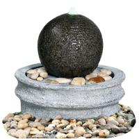 Hand Cast Ball Water Fountain , Water Sphere Fountain For Courtyard