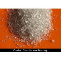 Buy cheap Recycled Crushed Glass Blasting Media No Free Silica Environmentally Friendly product