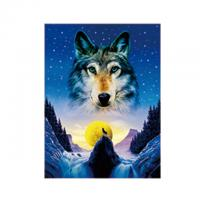 Buy cheap Animal 3D Lenticular Pictures For Office Decoration / 3D Wolf Picture product