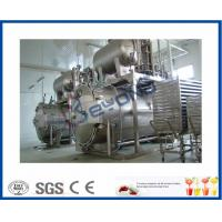 Buy cheap Industrial Dairy Milk Pasteurization Equipment , 0.6MPa Bottle Steam Sterilizer product