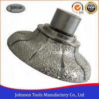 Buy cheap 45-120mm Vacuum Brazing Diamond Router Bits for Shaping Various Stone product