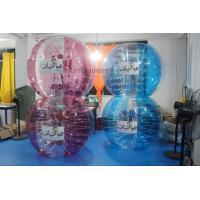 China Adult Red Buddy Bumper Ball , Blue Human Inflatable Bumper Bubble Ball Logo Printed on sale