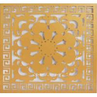 Buy cheap Art Flower Aluminum Wall Panel CNC Carved Exterior PVDF Coating product