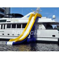 China 7.7m Long Inflatable Water Slide For Yacht , Yacht Inflatable Water Slide on sale