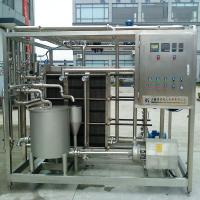 Buy cheap 220V / 380V 1000LPH Milk Pasteurization Machine 6KW With High Performance product