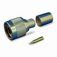 Buy cheap RF Coaxial Connector N Plug Crimp for LMR400, with Brass Material and Nickel Finish Body product