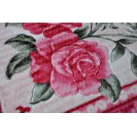 Buy cheap Flower Printed Warm 100% Polyester Blanket / 2 Ply Blanket With Novelty Pattern from wholesalers