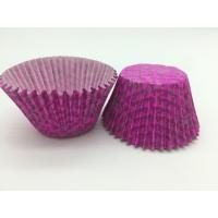 Buy cheap Luxuriant Purple Paper Cupcake Liners Printed Round Paper Cake Cup Mold Baking Set product