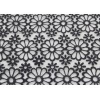 Buy cheap Embroidered Dying Lace Fabric Floral Lace Organza Polyester Fabric For Dresses product