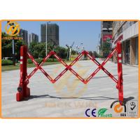 Quality Roadside Temporary Muti Gate Expandable Plastic Traffic Barriers Crowd Control Max Length 2200mm for sale