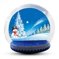 Buy cheap 4m Big Inflatable Lawn Snow Globe / Blow Up Snow Globe Decoration from wholesalers