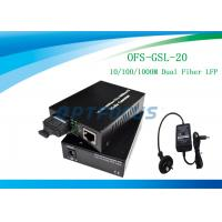 Buy cheap 20 km Single Mode LFP fiber ethernet converter 1310 nm External Power product