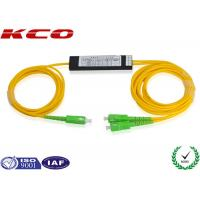 Buy cheap SC / APC Single Mode Dual Windows FBT Splitter 1*2 G657A SM Coupler product