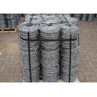 Buy cheap Double Strands Electro Hot Dip Galvanzied Barbed Iron Wire 4 Inch Distance product