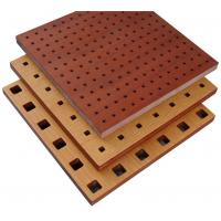 Buy cheap Fire Resistant Perforated Wood Acoustic Panels Thickness 18mm / 15mm product