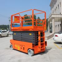 Buy cheap Steel Self Propelled Scissor Lift Height 11.8m Extendable Electric Drive product