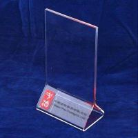 Buy cheap A3 / A4 Transparent Tabletop Acrylic Menu Holder Triangle for Cafe Bar product