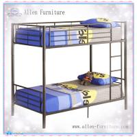Buy cheap High Quality Black Finish Metal Twin Over Twin Bunk Bed from wholesalers