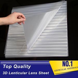 Buy cheap OK3D 161lpi 0.25mm PET 3d lenticular lens plastic sheet film materical can make 3d flip zoom animation morphing effect product