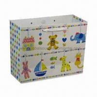Buy cheap Retail Paper Bag with Ribbon Stain Handle, Measures 378 x 100 x 290mm from wholesalers