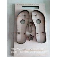 Buy cheap Slipper sole steel cutting dies, slipper sole plywood steel rule dies factory China product