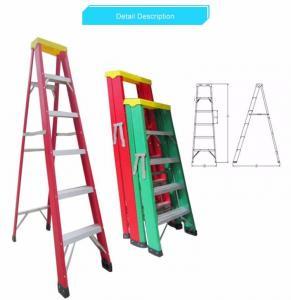 Buy cheap Safety Insulated Fiberglass Adjustable Ladder / Fiberglass Telescopic Ladder product