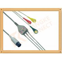Buy cheap Generic AAMI 6 Pin ECG Patient Cable 3 Leads Snap IEC For Abbott Medical product