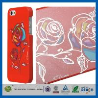 Buy cheap Gold Siliver Foil Bling Flowers Snap-On Apple Iphone 5S Smartphone Back Cover product
