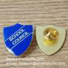Buy cheap Shield shape epoxy enamel lapel pin, color filled lapel pins, product