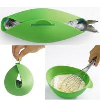 Buy cheap Round Shape Silicone Kitchen Utensils Silicone Collapsible Bowl For Baking Fish product