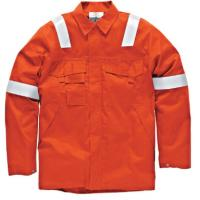 Buy cheap Big And Tall Welding Flame Resistant Clothing Orange Color High Vis product