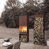 Buy cheap Yard / Garden Cast Iron Fire Pot , Corten Steel Fire Pit Wood Burning Fireplace product