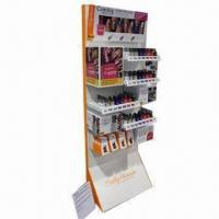 Buy cheap Corrugated Paper Lipstick Cosmetic Display Stands with Colorful Printing for Advertising Promotions product