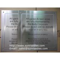 Buy cheap Satin brush stainless steel sign plaque, black enamel brushed S.S. sign plate product