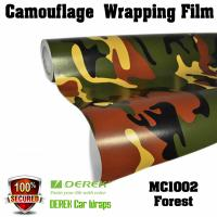 Buy cheap Camouflage Automotive Vinyl Wrapping Film bubble free 1.52*30m/roll - Forest product