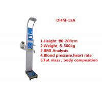 Buy cheap Medical BMI Coin operated body fat Composition height weight measuring machine with printing and blood pressure product