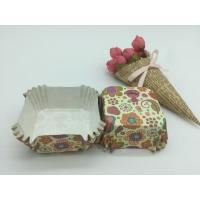 Buy cheap Food Safe PET Paper Baking Cups Disposable Cute Special Pattern For Cupcake / Bread product