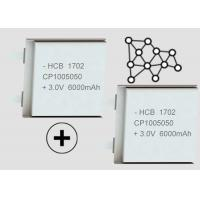 Buy cheap Anti Corrosion 6000mAh Primary Lithium Manganese Dioxide Batteries CP1005050 Soft Package product