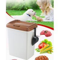 Buy cheap 40L 15kgs 17lbs high quality stocked customized pet food storage container bucket dispenser dog food can box for dog cat product