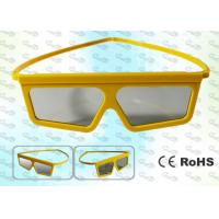Buy cheap REALD Cinema Yellow framed Circular polarized 3D glasses product