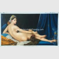 Buy cheap Canvas People Oil Painting , Nude Woman Oil Painting Reproduction On Linen from wholesalers