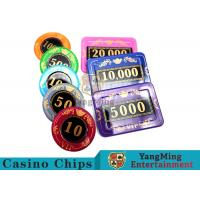 Buy cheap 730pcs Crystal Screen Style Numbered Poker Chip Set With Aluminum Case product
