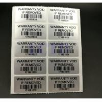 Buy cheap Custom Printable Security Stickers / Labels Moisture Proof For Chemical Packaging product