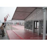 Quality 15M Clear Span Aluminum Outdoor Event Tent Designed With Transprent Glass Wall for sale