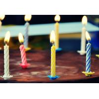Buy cheap 4 Colors 24Pcs Swirl Birthday Candles With Holders For Children Party Food Grade product