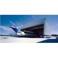 Quality Pre Engineered Clear Span Steel Buildings Roll - Up Doors For Aircraft Hangars for sale